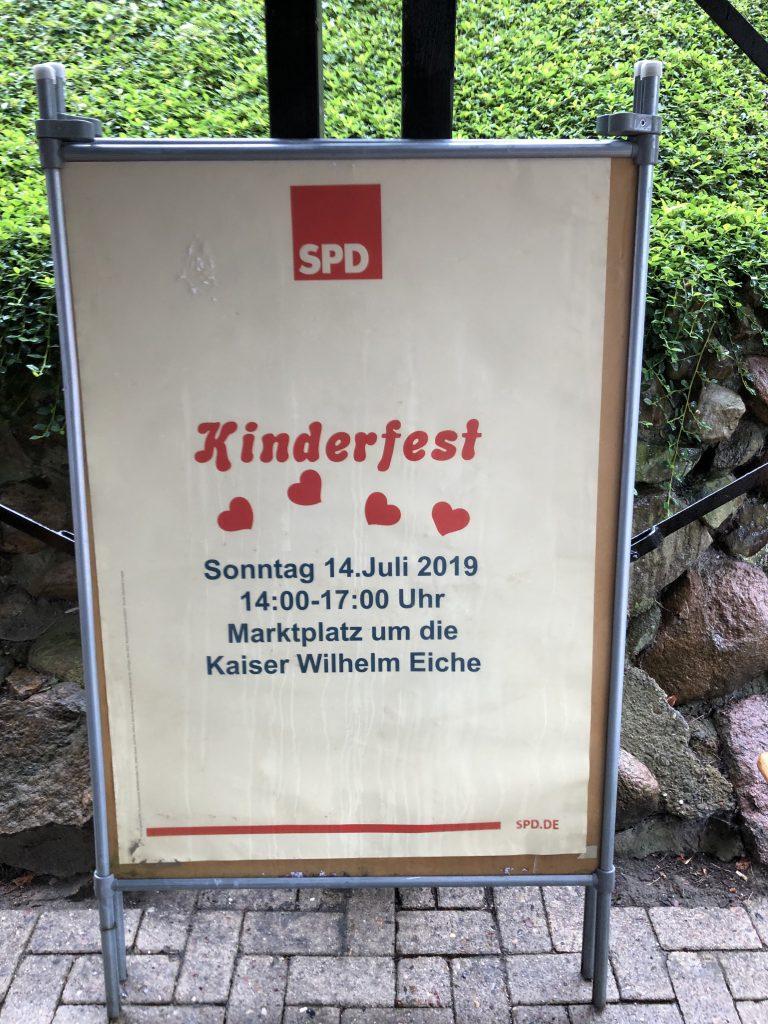 Plakat zum Kinderfest am 14.07.2019