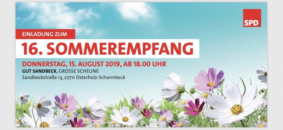 16.Sommerempfang SPD Kreis OSterholz