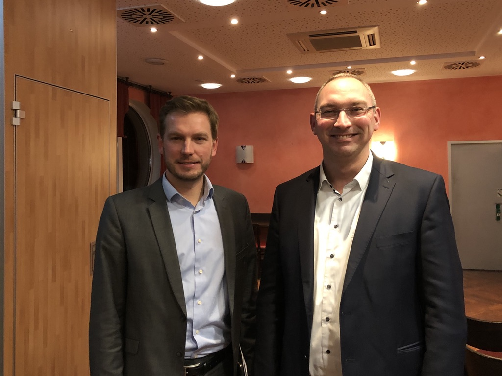 Sebastian Zinke (MdL), Prof. Dr. Tim Jesgarzewski (Vorsitzender SPD Ortsverein Osterholz-Scharmbeck)