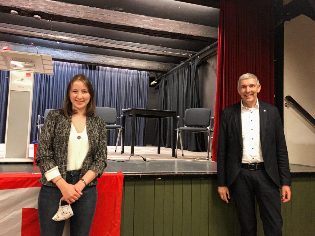 2020-10-26 Kristin Lindemann und Bgm Rohde
