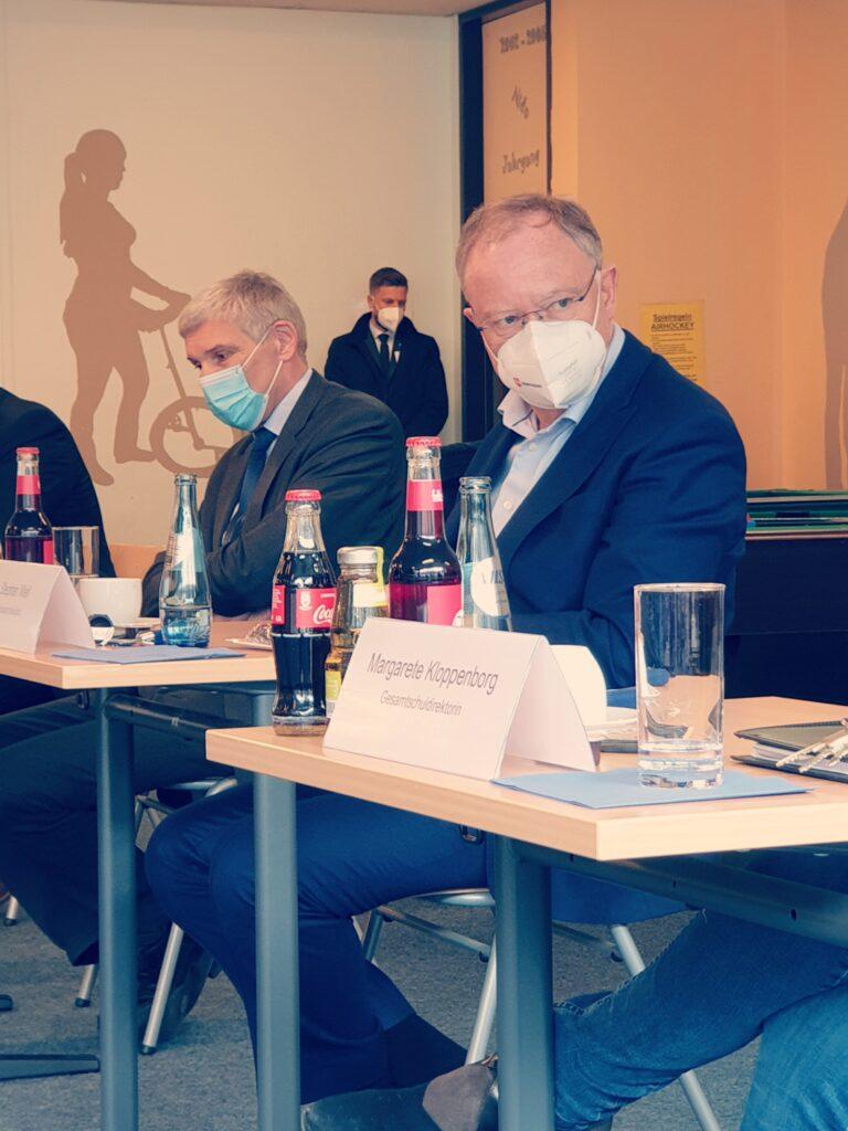 Stephan Weil in der IGS
