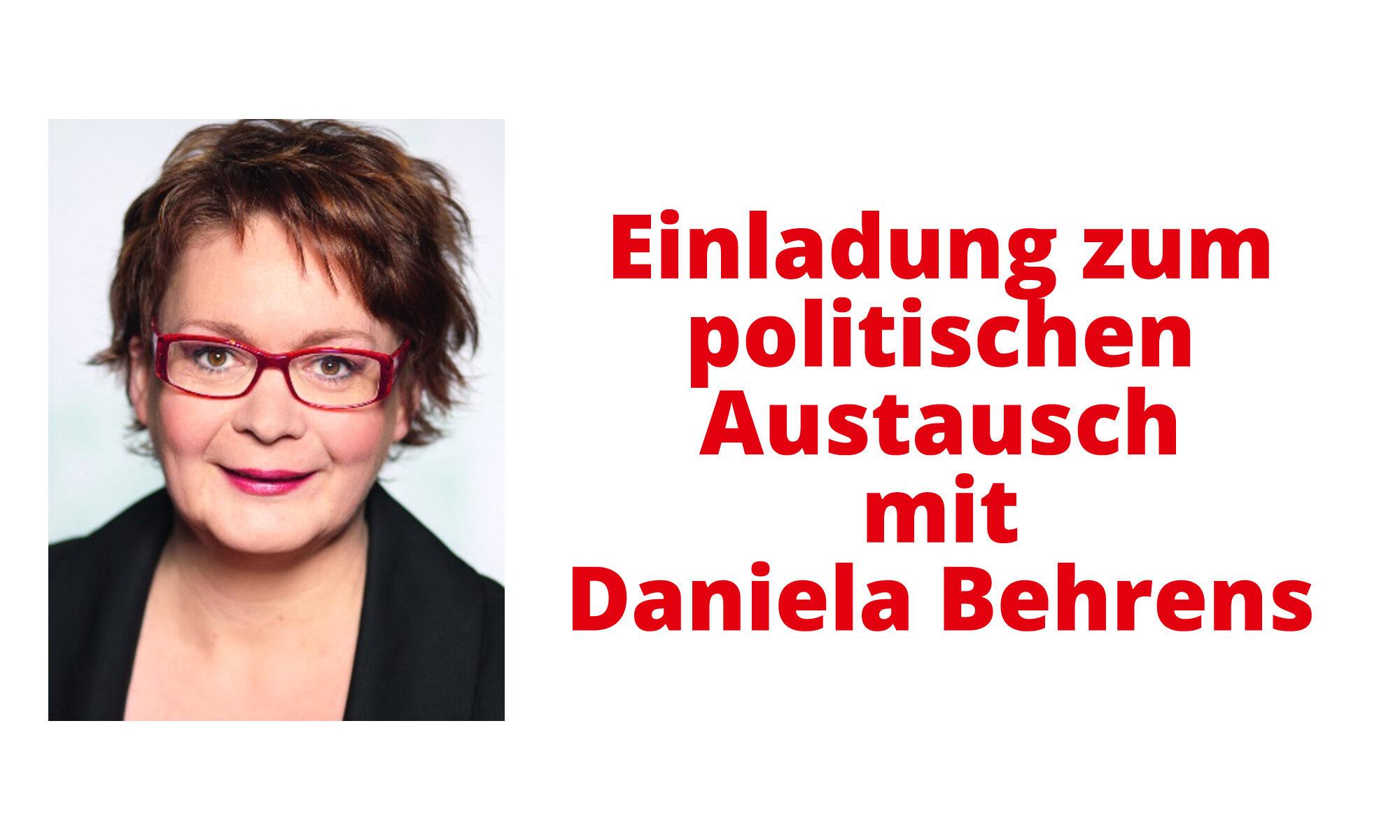 Einladung zum politischen Austausch mit Daniela Behrens